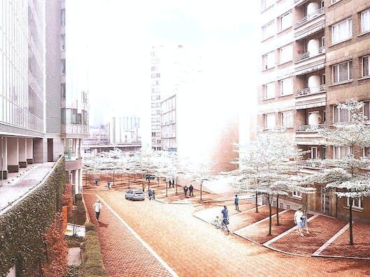 Vue en image de synthèse des aménagements prévu dans le quartier Saint-Lazare