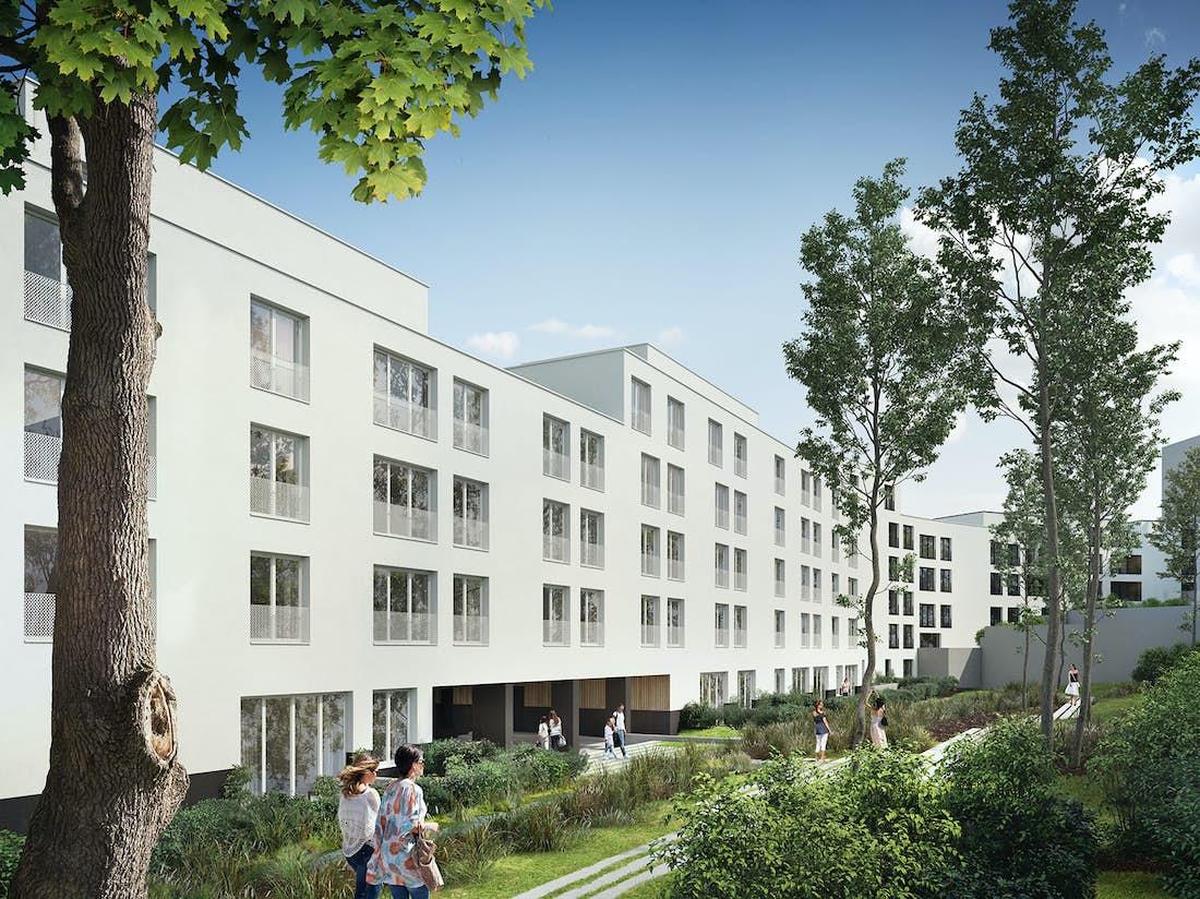 Een geheel van drie gebouwen zal onderdak bieden aan een nieuw soort van intergenerationeel samenhuizen in Vorst.