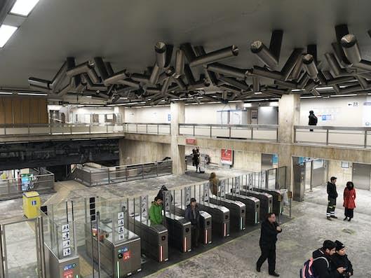 Het station Beurs-Grote Markt voor renovatie