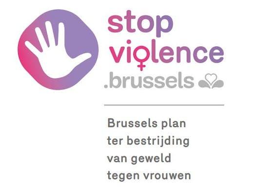 Logo van het brussels plan ter bestrijding van geweld tegen vrouwen