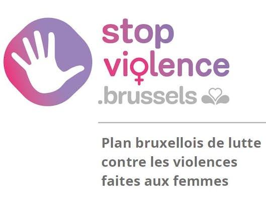 Logo du plan bruxellois de lutte contre les violences faites aux femmes